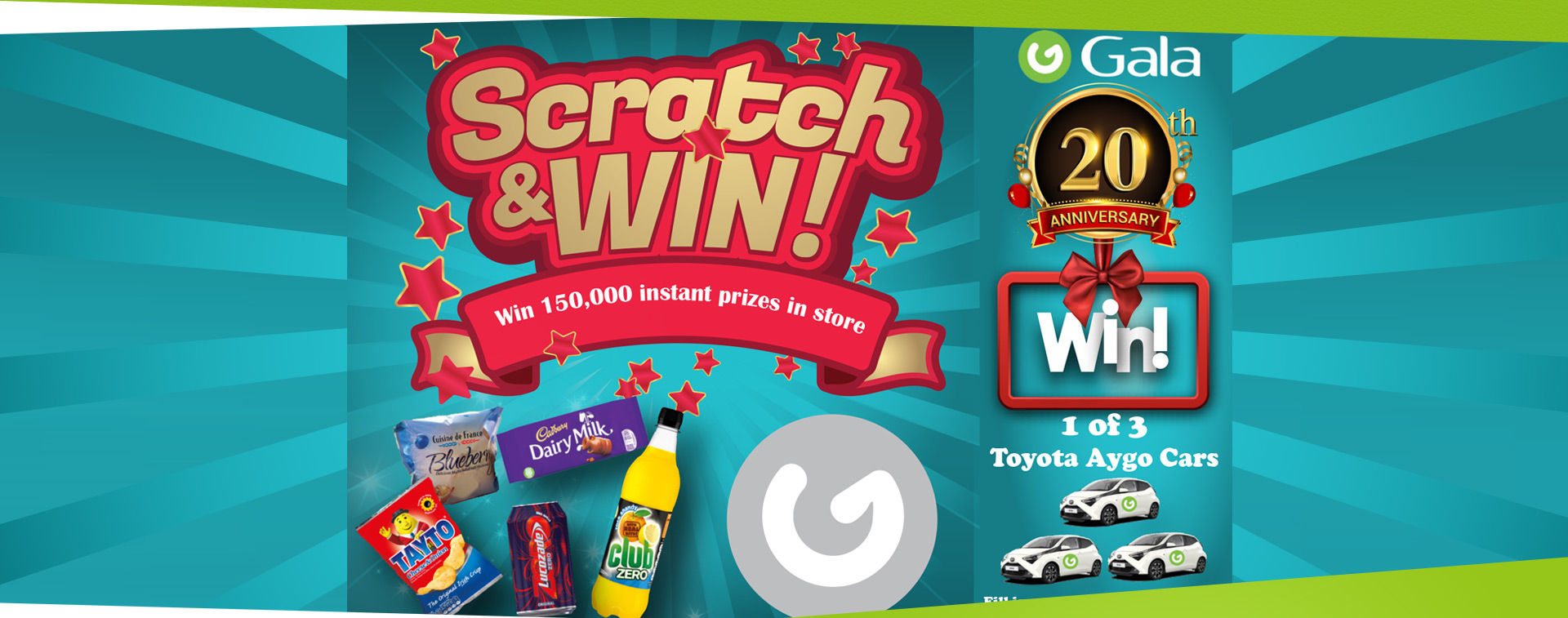 Win 1 of 3 Toyota Aygo Cars