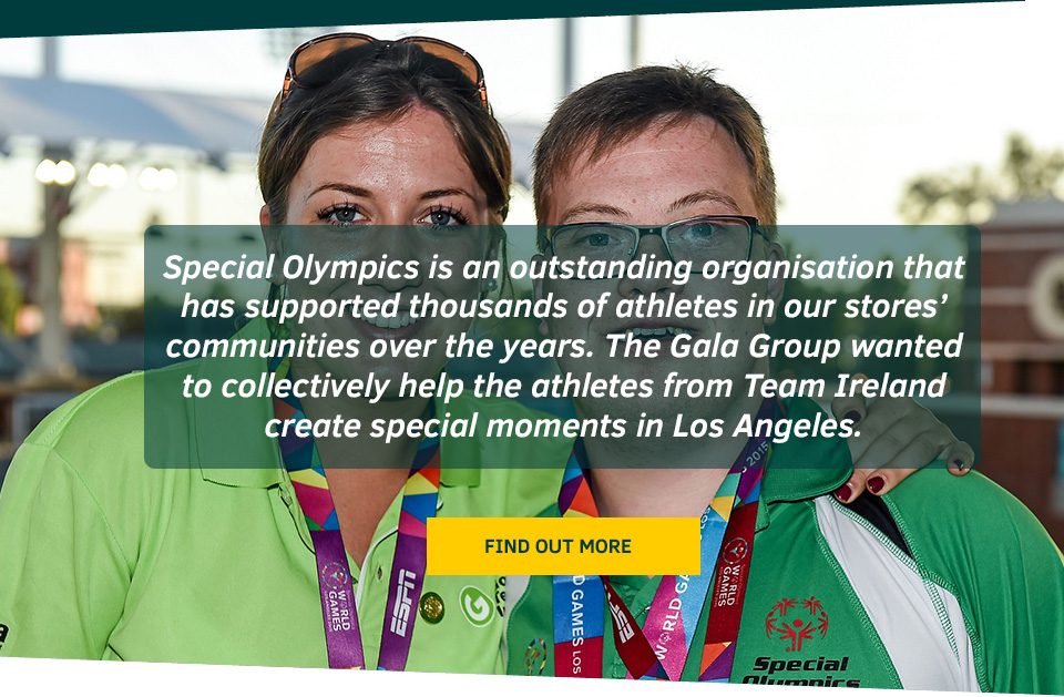 Find out more about Gala and the Special Olympics